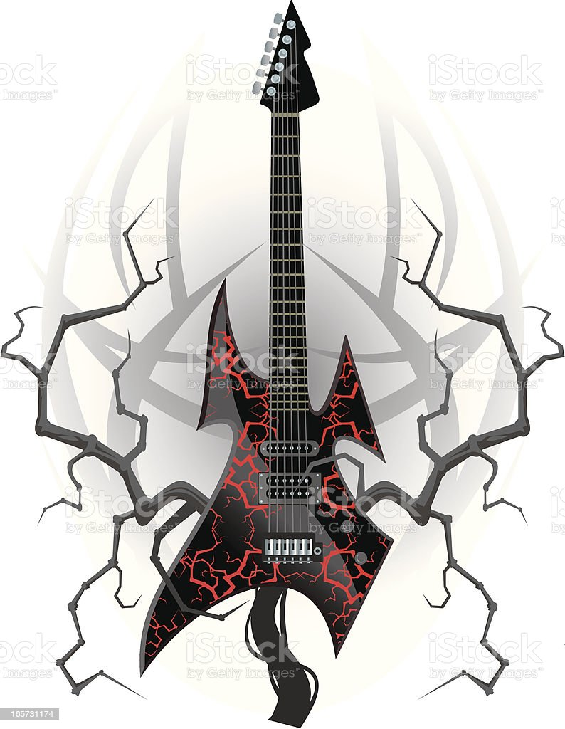 Black Metal Guitar royalty-free black metal guitar stock vector art & more images of arts culture and entertainment