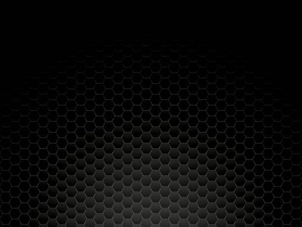 black metal hexagon background vector art illustration