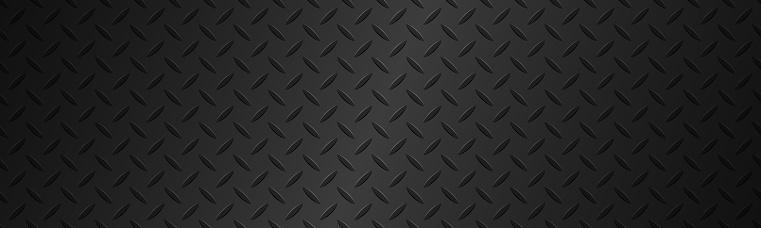 Black metal plate texture header. Stainless steel background with gradient. Modern vector illustration banner