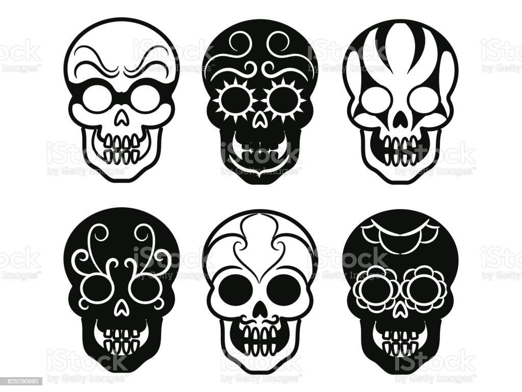 Wunderschön Mexikanischer Totenkopf Ideen Von Schwarze Mexikanische Symbole Lizenzfreies Schwarze Mexikanische Symbole