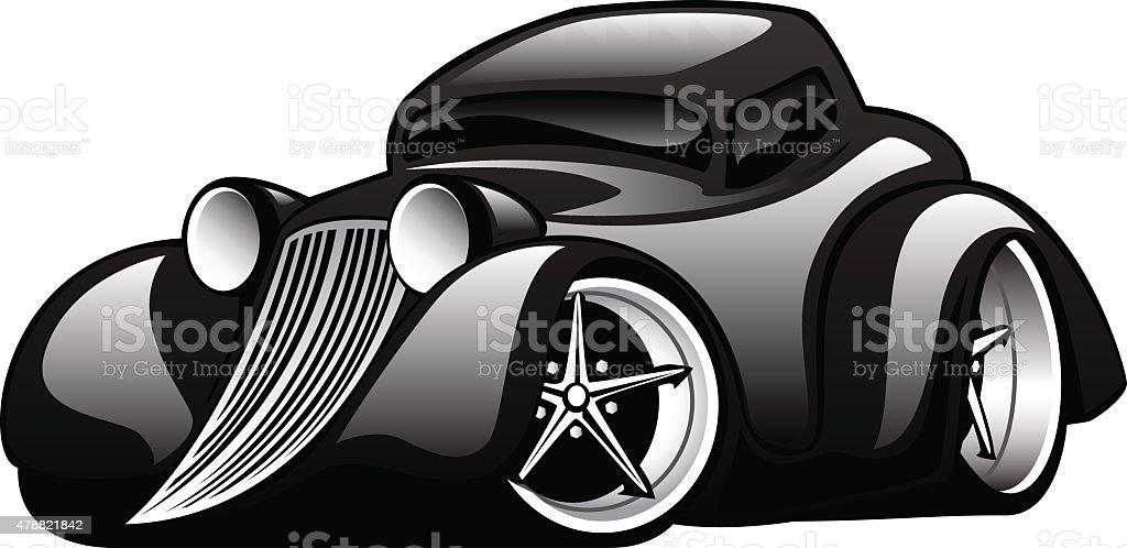 Black Modern American Muscle Car Illustration Stock Vector Art