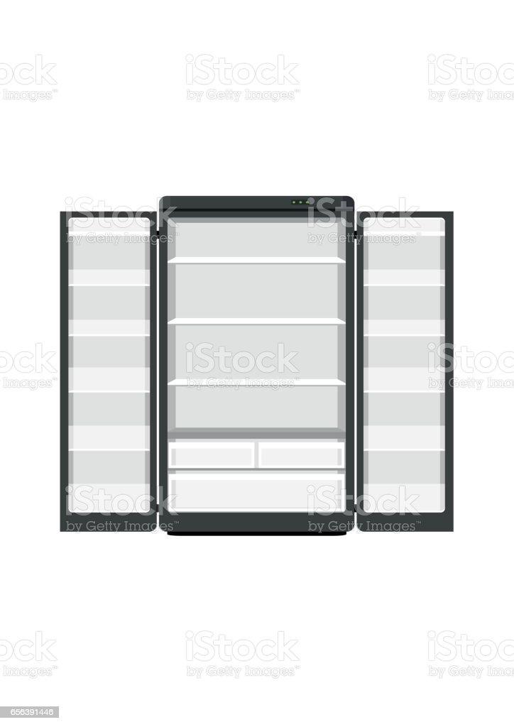 Schwarze Moderne Haushaltsgeräte Kühlschrank Mit Zwei Türen Die ...
