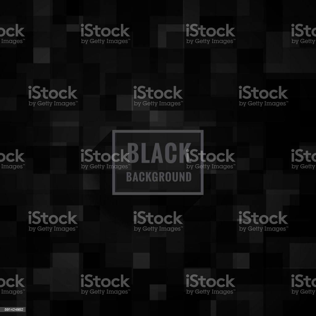 black mosaic background vector art illustration