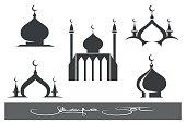 Black Mosques icons set