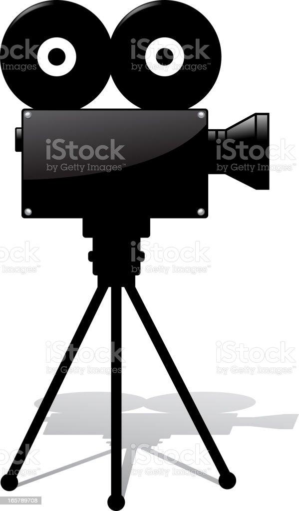black movie camera royalty-free stock vector art