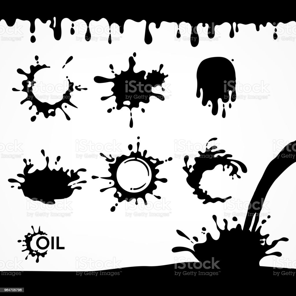 Black oil drops and splash royalty-free black oil drops and splash stock vector art & more images of abstract