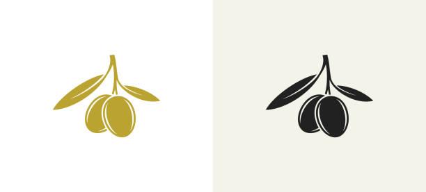 ilustraciones, imágenes clip art, dibujos animados e iconos de stock de aceitunas negras. aceitunas verdes. conjunto de iconos - antioxidante