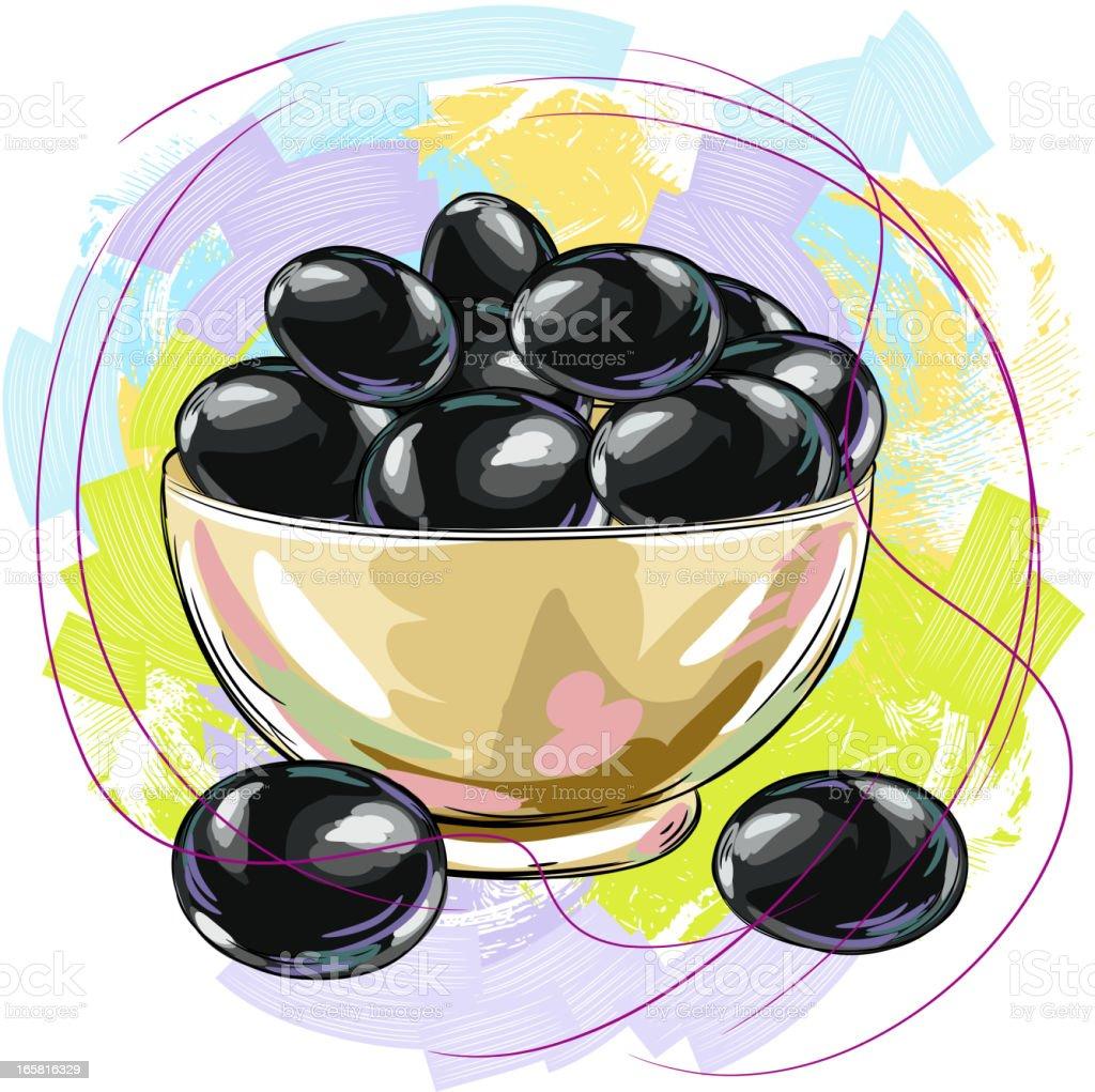Black Olives royalty-free stock vector art