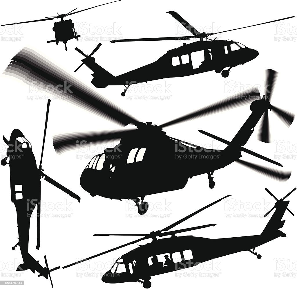 Black Ops vector art illustration