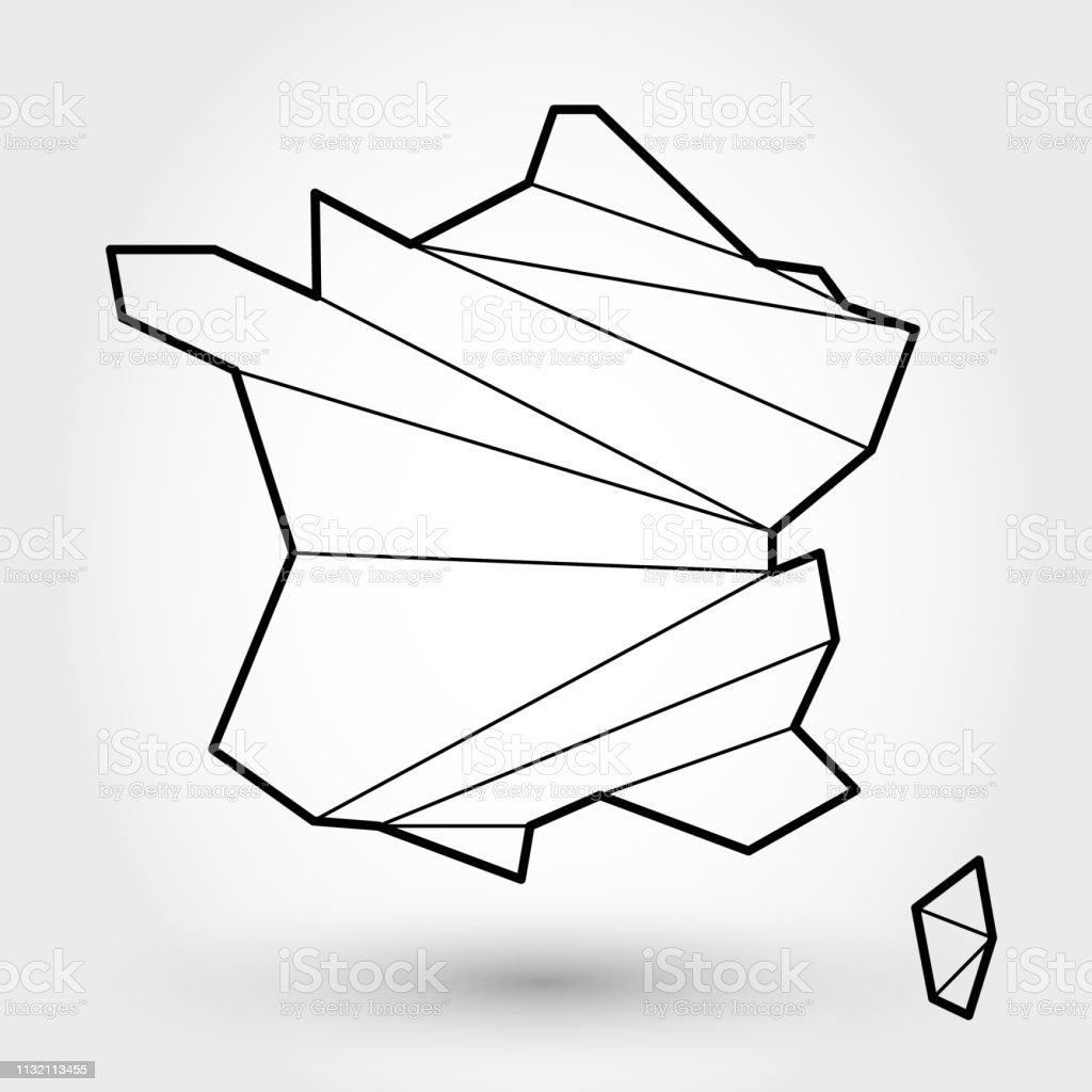 Outline Of Map Of France.Black Outline Map Of France Stock Vector Art More Images Of Art