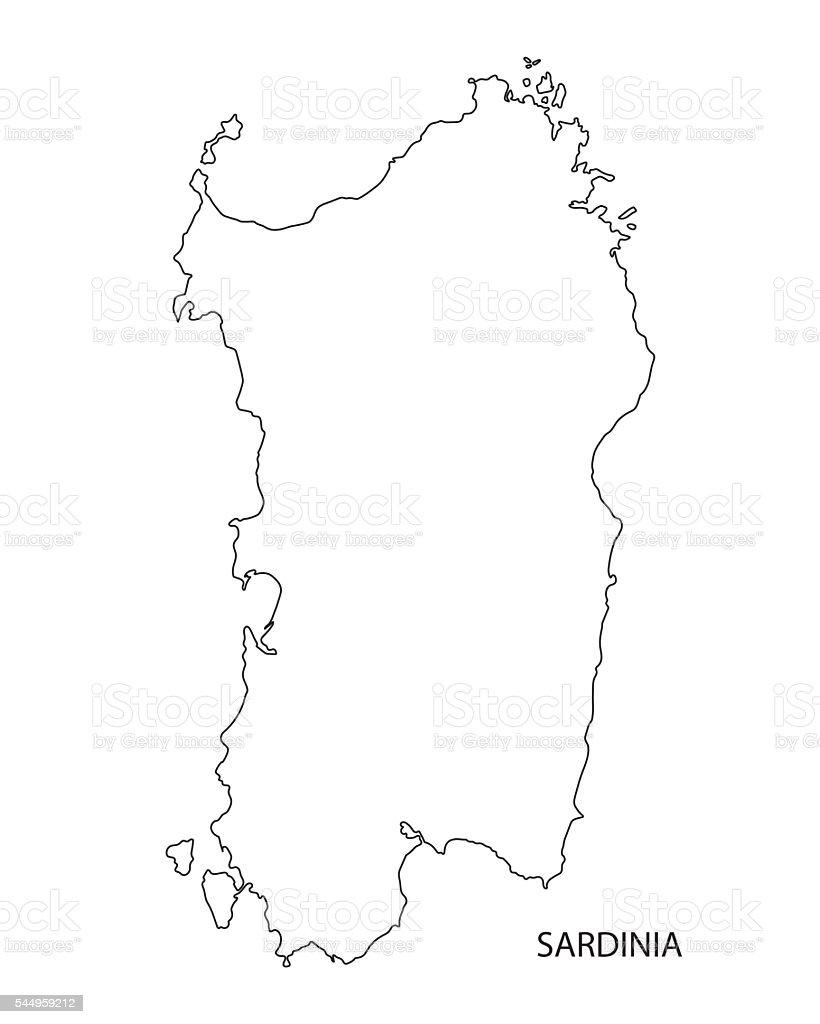 Cartina Sardegna Nurri.Mappa Sagoma Nera Della Sardegna Italia Immagini Vettoriali Stock E Altre Immagini Di Cagliari Istock