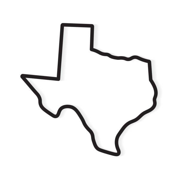 black outline of Texas map black outline of Texas map- vector illustration outline stock illustrations