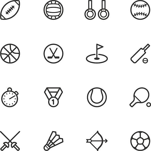 ilustraciones, imágenes clip art, dibujos animados e iconos de stock de iconos de deporte - críquet