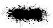 Black paint splatter vector design background