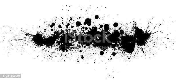 Black paint splash vector design background