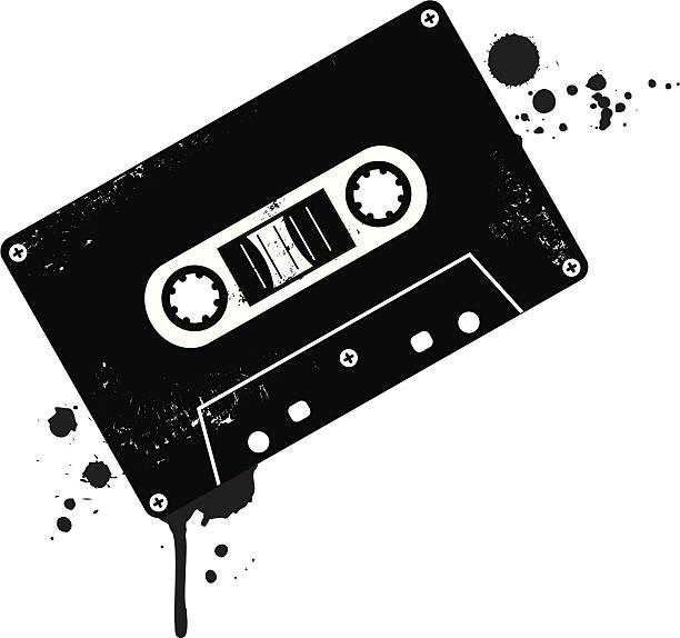 ilustrações, clipart, desenhos animados e ícones de cassete - fita cassete