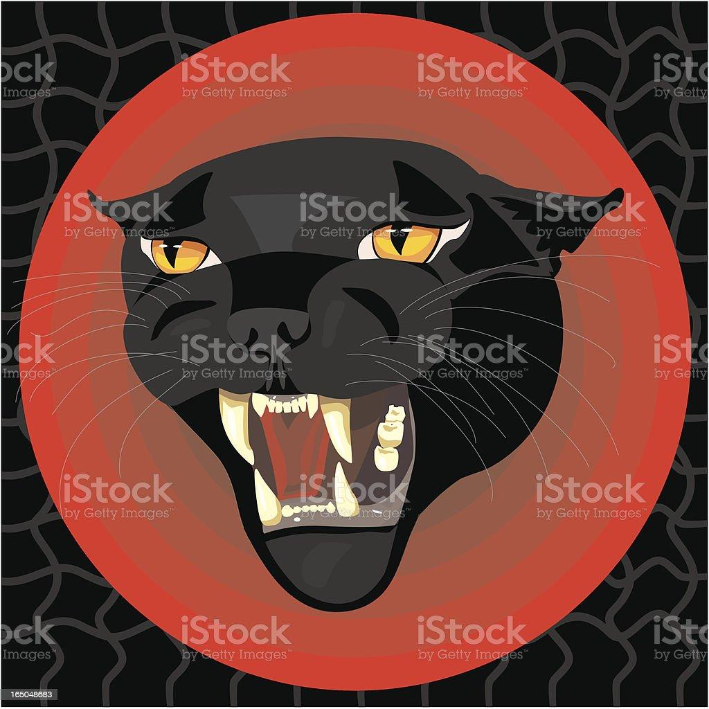 Black Panther Head - Dangerous royalty-free stock vector art