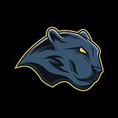 Black panther mascot logo