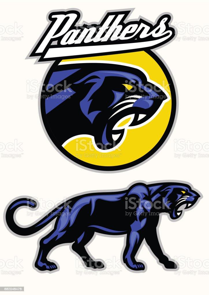 black panther mascot set