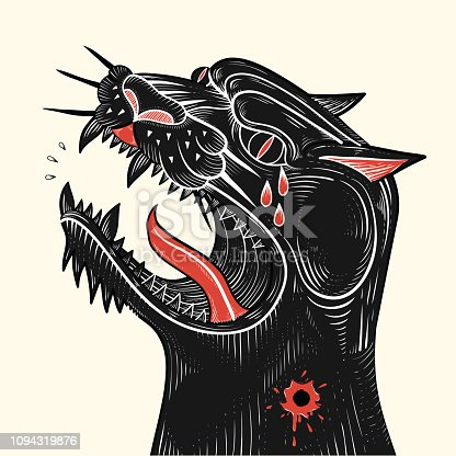 Black Panther is not dead free,vector illustration