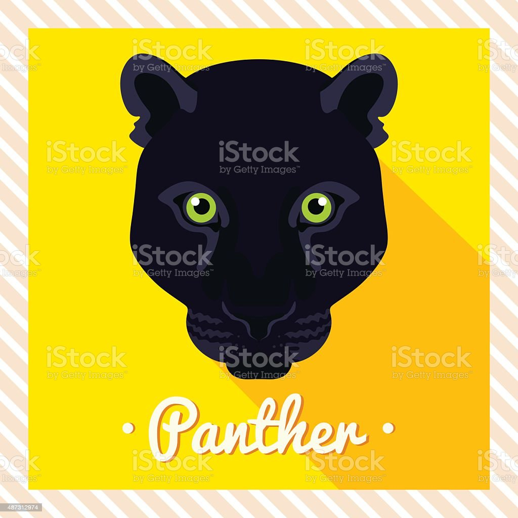 black panther vector art illustration