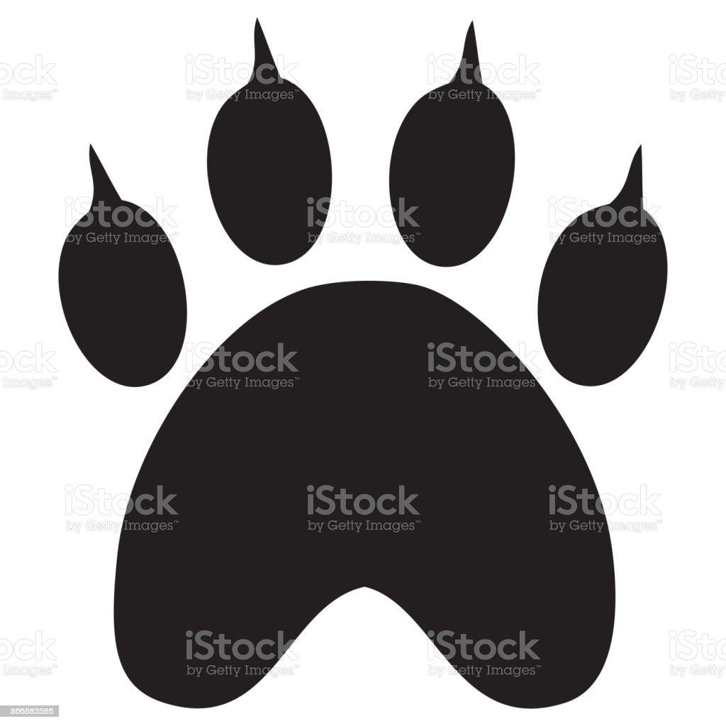 ブラックの動物の足跡 のイラスト素材 866883586 | istock