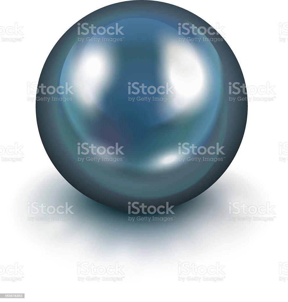 Black pearl vector art illustration