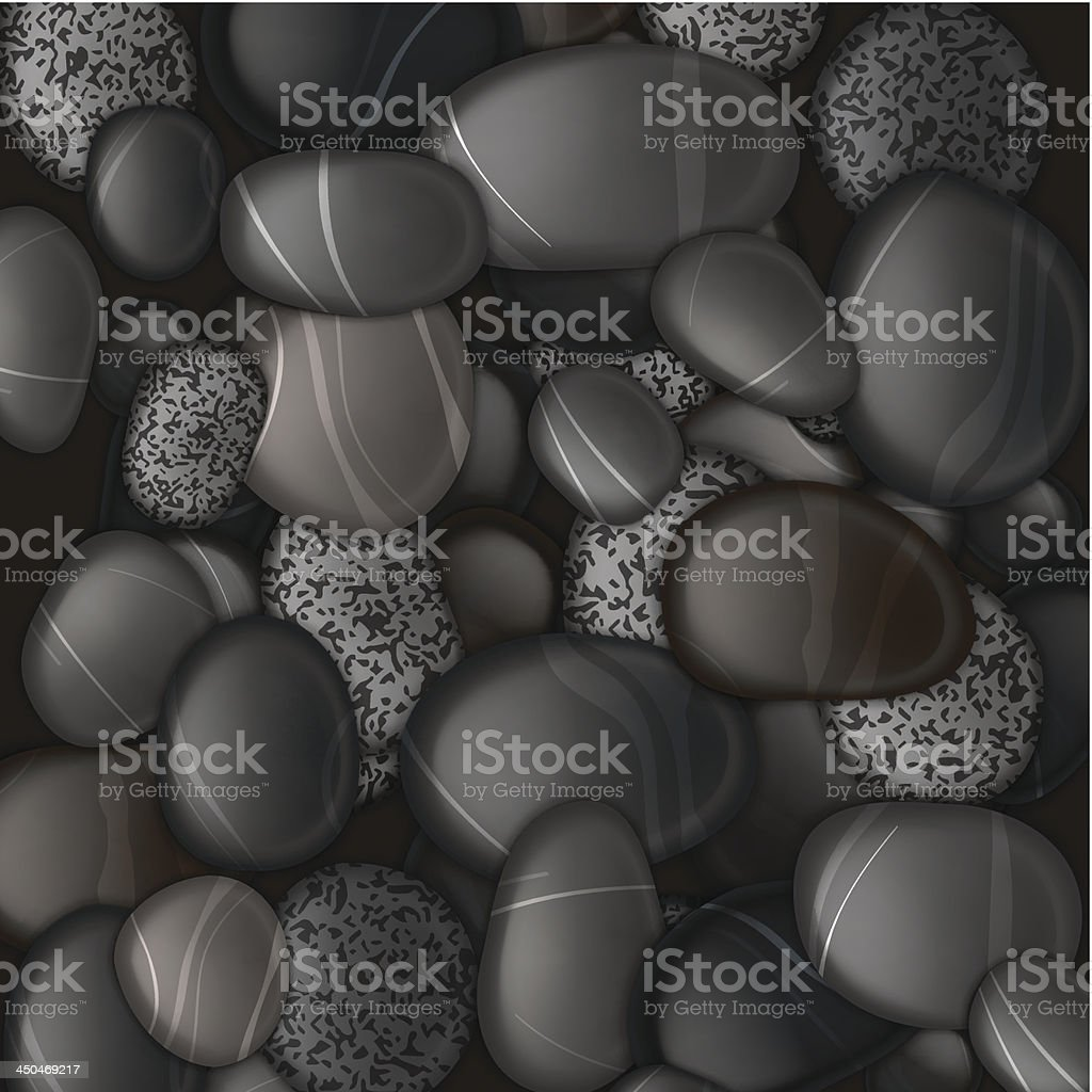 Black pebble stones background royalty-free stock vector art