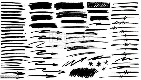 istock Black pen marker shapes 1312008004