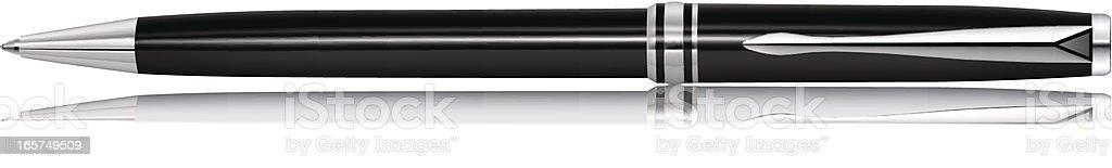 Black Pen vector art illustration