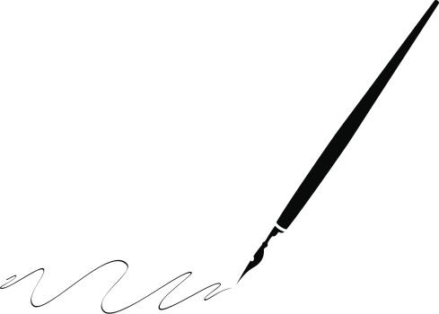 Black pen with black ink making swirls