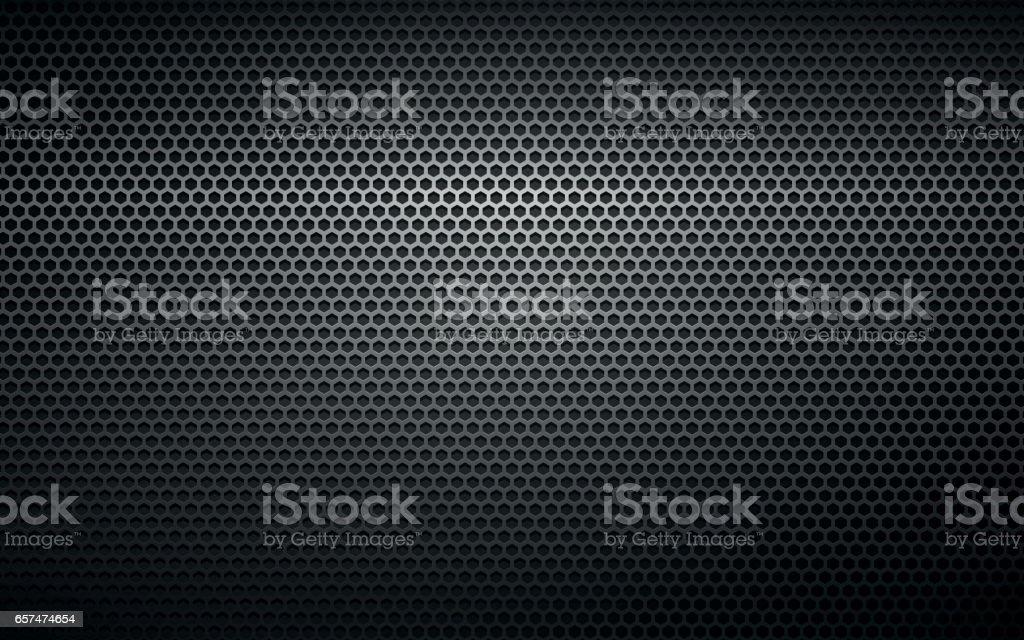 textura de fundo preto de metal perfurado - ilustração de arte em vetor