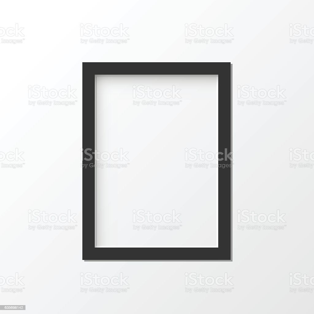 Black picture frame vector illustration royalty-free black picture frame vector illustration stock vector art & more images of abstract
