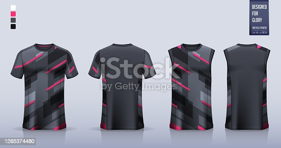 Black Pink stripe t t-shirt sport, Soccer jersey, football kit, basketball uniform, tank top, and running singlet mockup.
