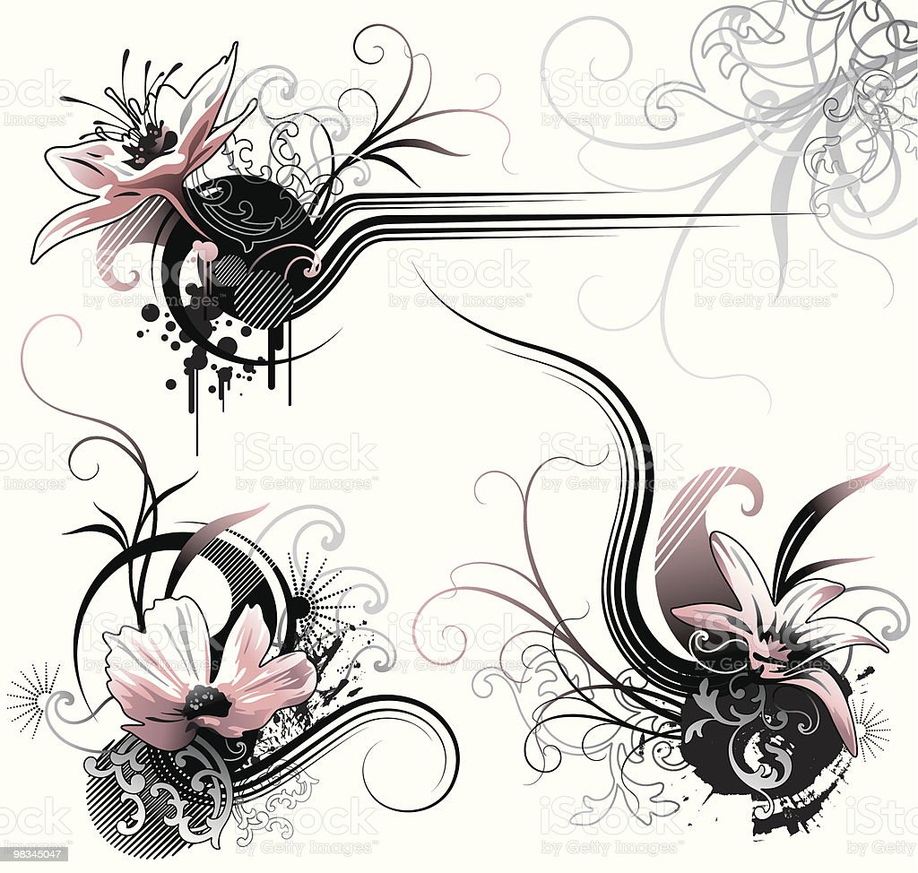 Black & Pink royalty-free black pink stock vector art & more images of abstract