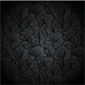 Vector illustration black plant background