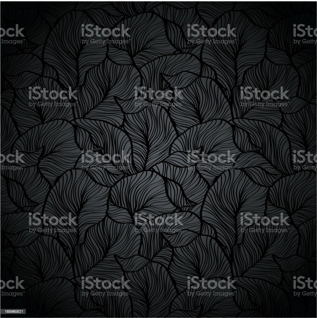 Black plant texture vector art illustration