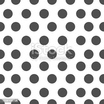 Black Polka dot seamless pattern background.