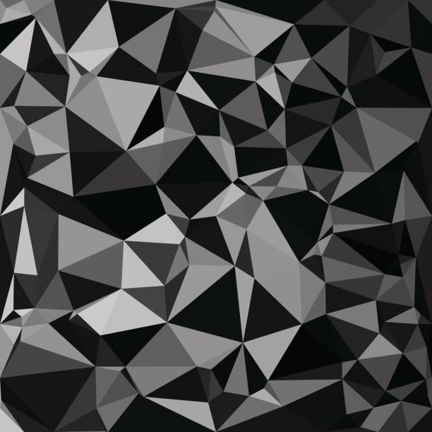 Black Polygonal Mosaic Background, Creative Design Templates vector art illustration
