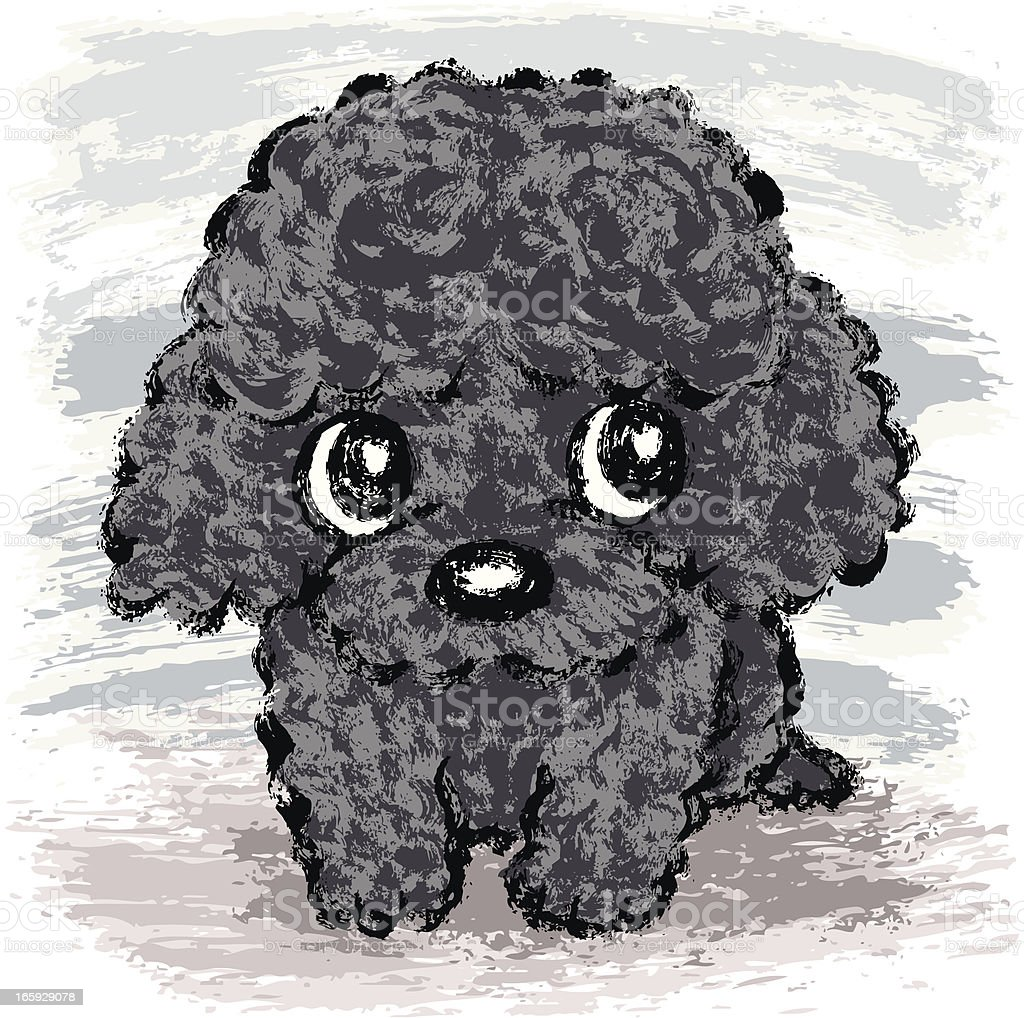 Black Poodle Puppy Stock Illustration Download Image Now Istock