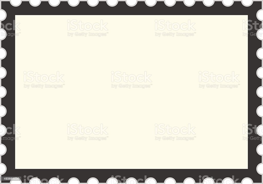 Black Postage Stamp Template Stock Vector Art  More Images Of