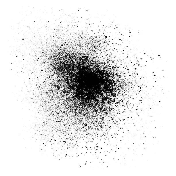 schwarzpulver, vektor-design-element - kreide weiss stock-grafiken, -clipart, -cartoons und -symbole