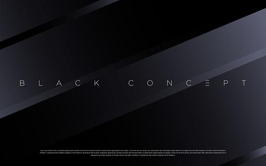 Black premium abstract background with luxury gradient geometric elements.