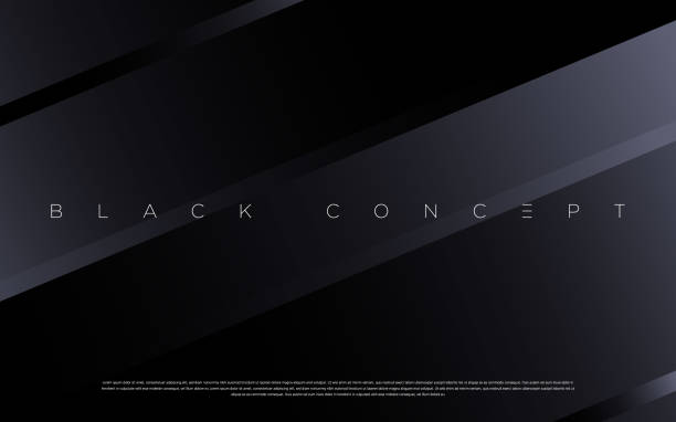 Black premium abstract background with luxury gradient geometric elements. Rich background for exclusive design. - Vector texture background stock illustrations