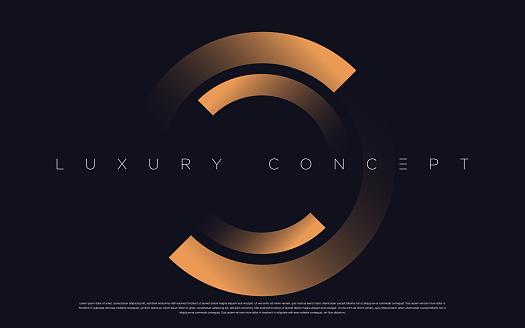 Black premium background with luxury dark golden geometric elements.