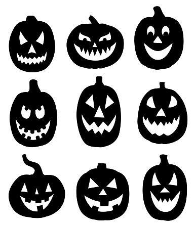 Black Pumpkins Set
