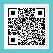 black qr code on white paper sticker for pattern and design,vector illustration