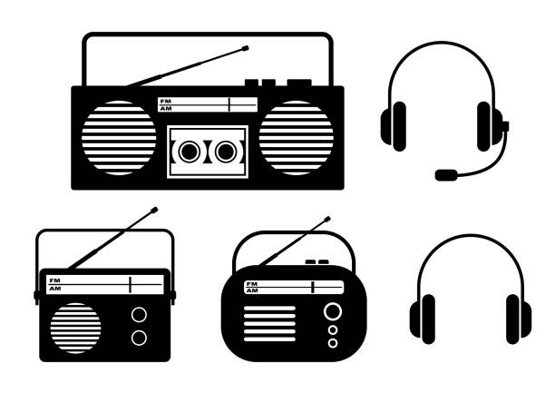 Royalty Free Transistor Radio Clip Art Vector Images
