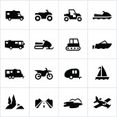 Black Recreational Vehicle Icons