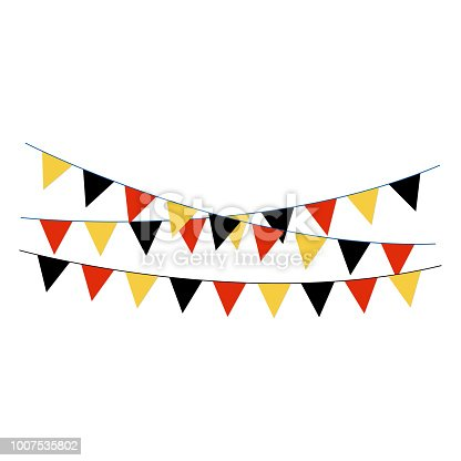Banner or bunting with black, red, and gold colors of German flag